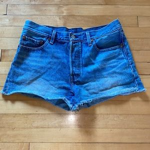 2/$40 Levi's 501 Button Fly High Rise Shorts